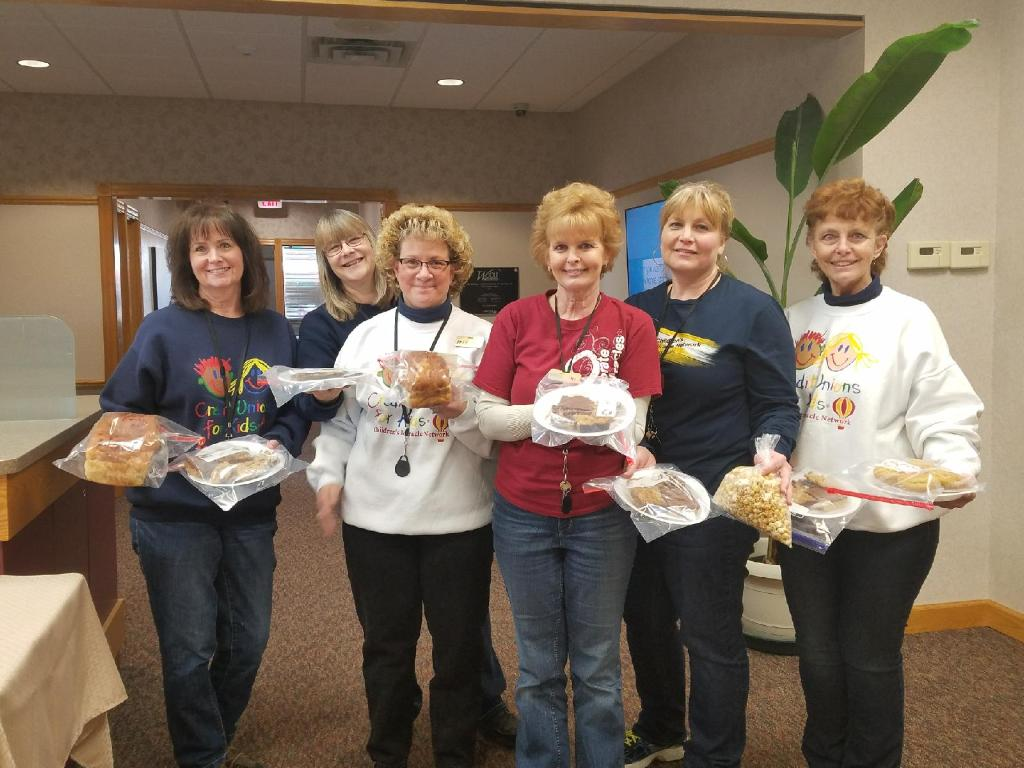 Staff from WCCU Viroqua wore their CMN shirts on the same day as their bake sale. Overall, WCCU raised over $2,000 during the bake sales at all offices.