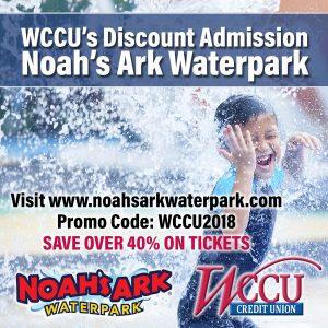 Noah's Ark Waterpark Discount Code: WCCU2018